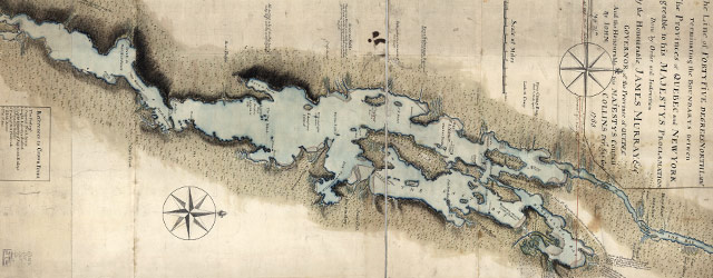Collins' map of Lake Champlain (1765) wide thumbnail image