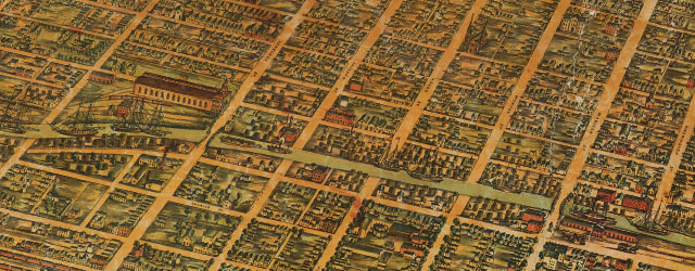 Palmatary's map of Chicago (1857) wide thumbnail image