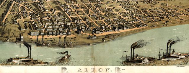 Ruger's map of Alton, Illinois (1867) wide thumbnail image