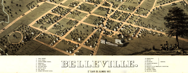Ruger's map of Belleville, Illinois (1867) wide thumbnail image