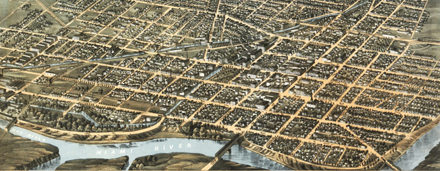 Ruger's map of Dayton, Ohio (1870) wide thumbnail image