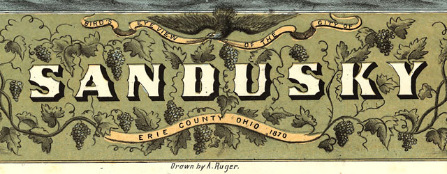 Ruger's map of Sandusky, Ohio (1870) wide thumbnail image