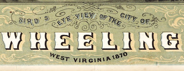 Ruger's map of Wheeling, West Virginia (1870) wide thumbnail image