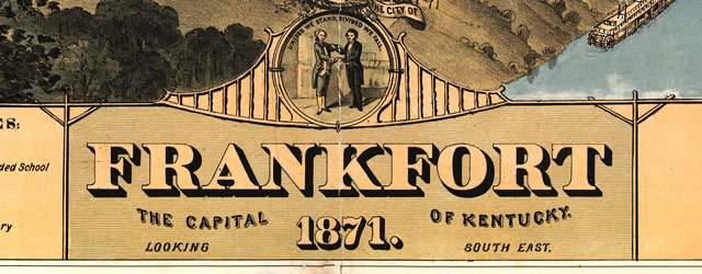 Ruger's map of Frankfort, Kentucky (1871) wide thumbnail image