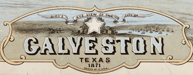 Drie's map of Galveston, Texas (1871) wide thumbnail image