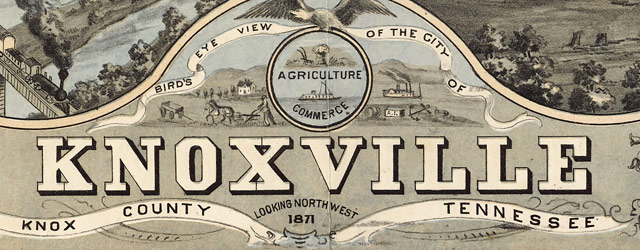 Ruger's map of Knoxville, Tennessee (1871) wide thumbnail image