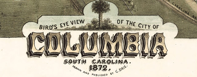 Drie's map of Columbia, South Carolina (1872) wide thumbnail image