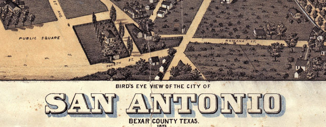 Koch's map of San Antonio (1873) wide thumbnail image