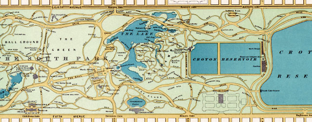 Hinrichs' guide to Central Park (1875) wide thumbnail image