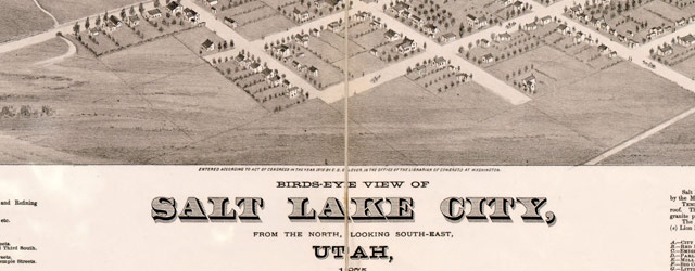 Glover's map of Salt Lake City (1875) wide thumbnail image