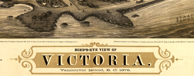 Map of Victoria, BC, Canada (1878) wide thumbnail image