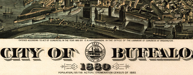 Howard's map of Buffalo, New York (1880) wide thumbnail image