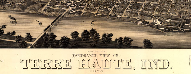 Birdseye map of Terre Haute (1880) wide thumbnail image