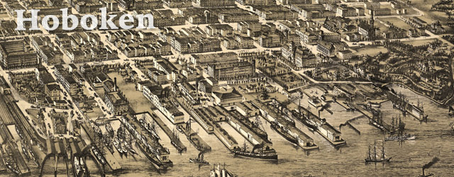 Bailey's map of Hoboken, New Jersey (1881) wide thumbnail image