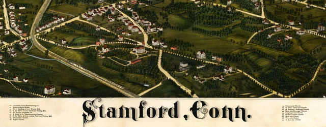 Burleigh's map of Stamford, Connecticut (1883) wide thumbnail image