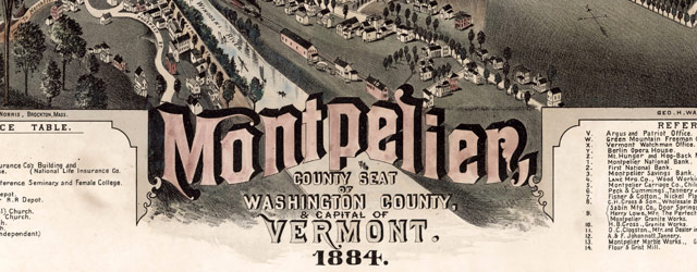 Poole's map of Montpelier, Vermont (1884) wide thumbnail image
