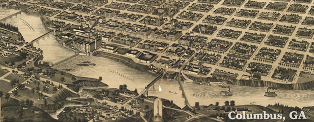 Wellge's map of Columbus, Georgia (1886) wide thumbnail image
