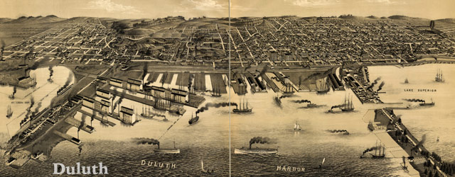 Wellge's map of Duluth (1887) wide thumbnail image