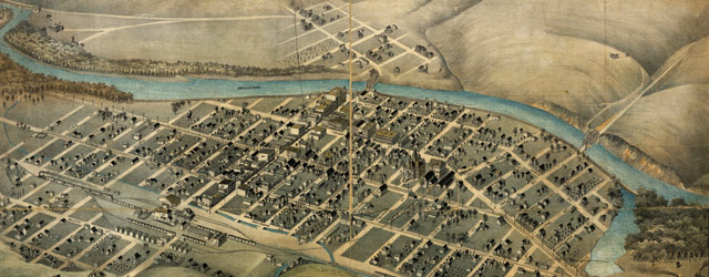 Birdseye map of Pendleton, Oregon (1890) wide thumbnail image
