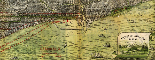 Roy's map of Chicago (1892) wide thumbnail image