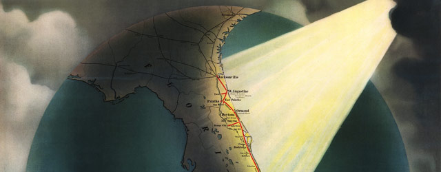 Promotional map of Florida (1898) wide thumbnail image