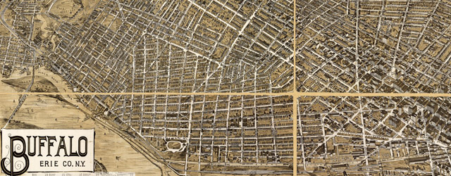 Birdseye map of Buffalo, New York (1900) wide thumbnail image