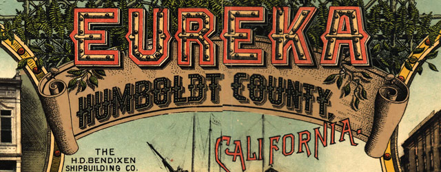 Noe's map of Eureka, California (1902) wide thumbnail image