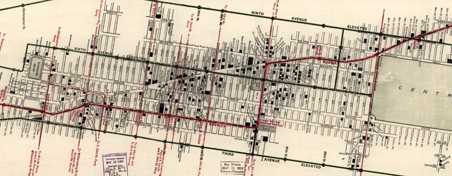 NYC Hotel and Theater map (1906) wide thumbnail image