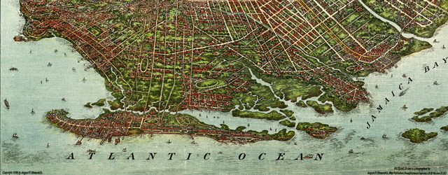 Ohman's map of Brooklyn (1908) wide thumbnail image