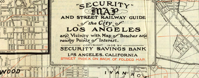 Security map of Los Angeles (1908) wide thumbnail image