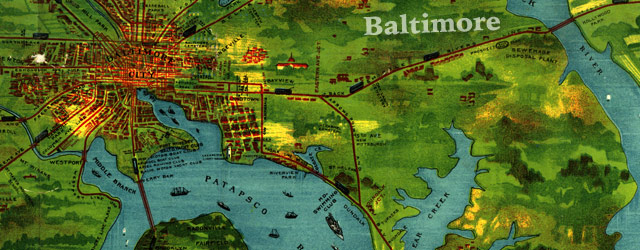 Railway map of Baltimore (1910) wide thumbnail image