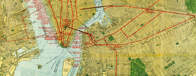 Map of NYC railroads (1918) wide thumbnail image