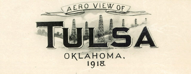 Aero view of Tulsa, Oklahoma (1918) wide thumbnail image