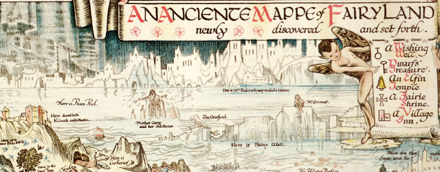 Sleigh's map of Fairyland (1872) wide thumbnail image