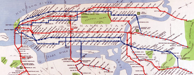 Map of NYC subway routes (1924) wide thumbnail image