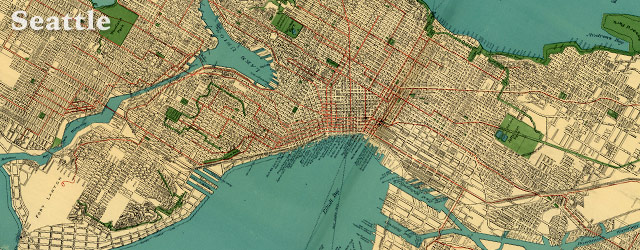 Rand McNally's street map of Seattle (1924) wide thumbnail image