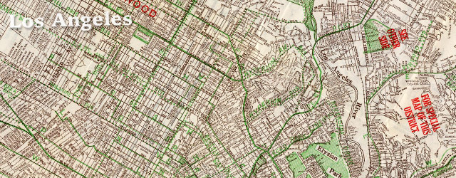 Hill's street map of Los Angeles (1928) wide thumbnail image