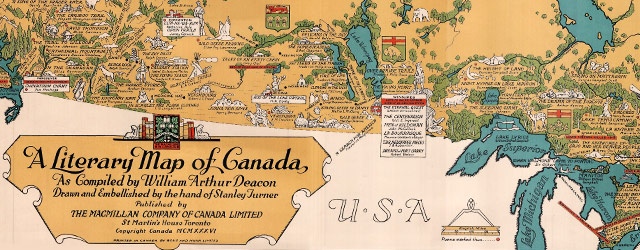 A Literary Map of Canada (1936) wide thumbnail image
