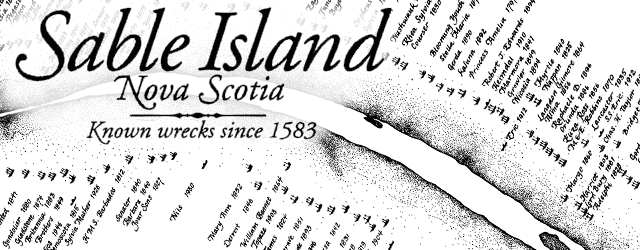 Sable Island: Known shipwrecks since 1583 wide thumbnail image