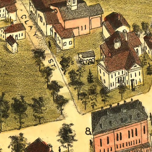 Birdseye View of Thomaston, Conn. image detail