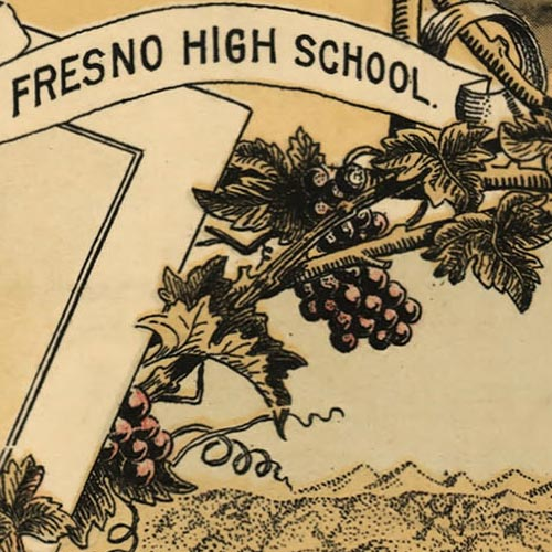 Birdseye Map of Fresno, Cal. image detail