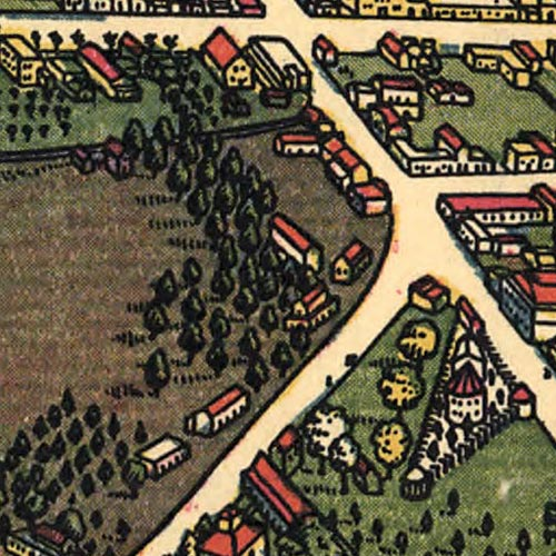 Los Angeles as it Appeared in 1871 image detail