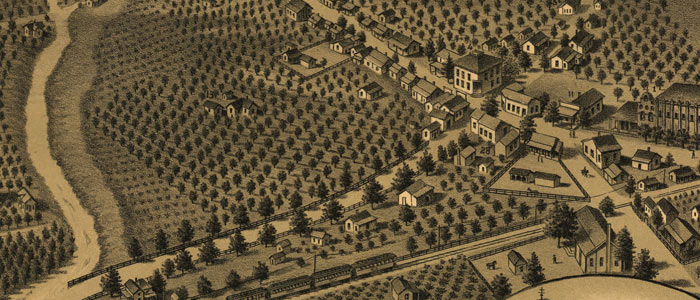 Birdseye View of San Gabriel, Cal. image
