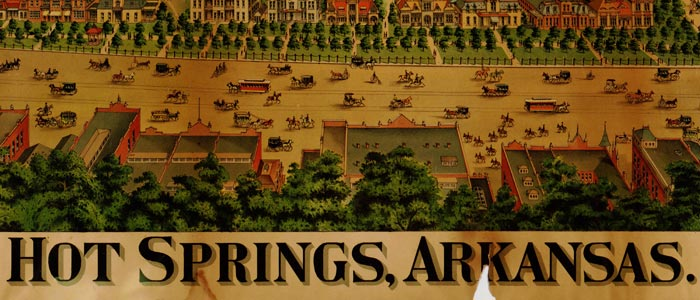 Hot Springs, Ark. Birdseye Map image