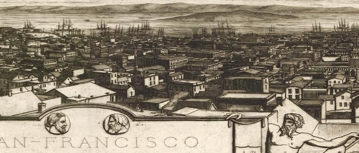 Birdseye Map of San Francisco – 1856 image