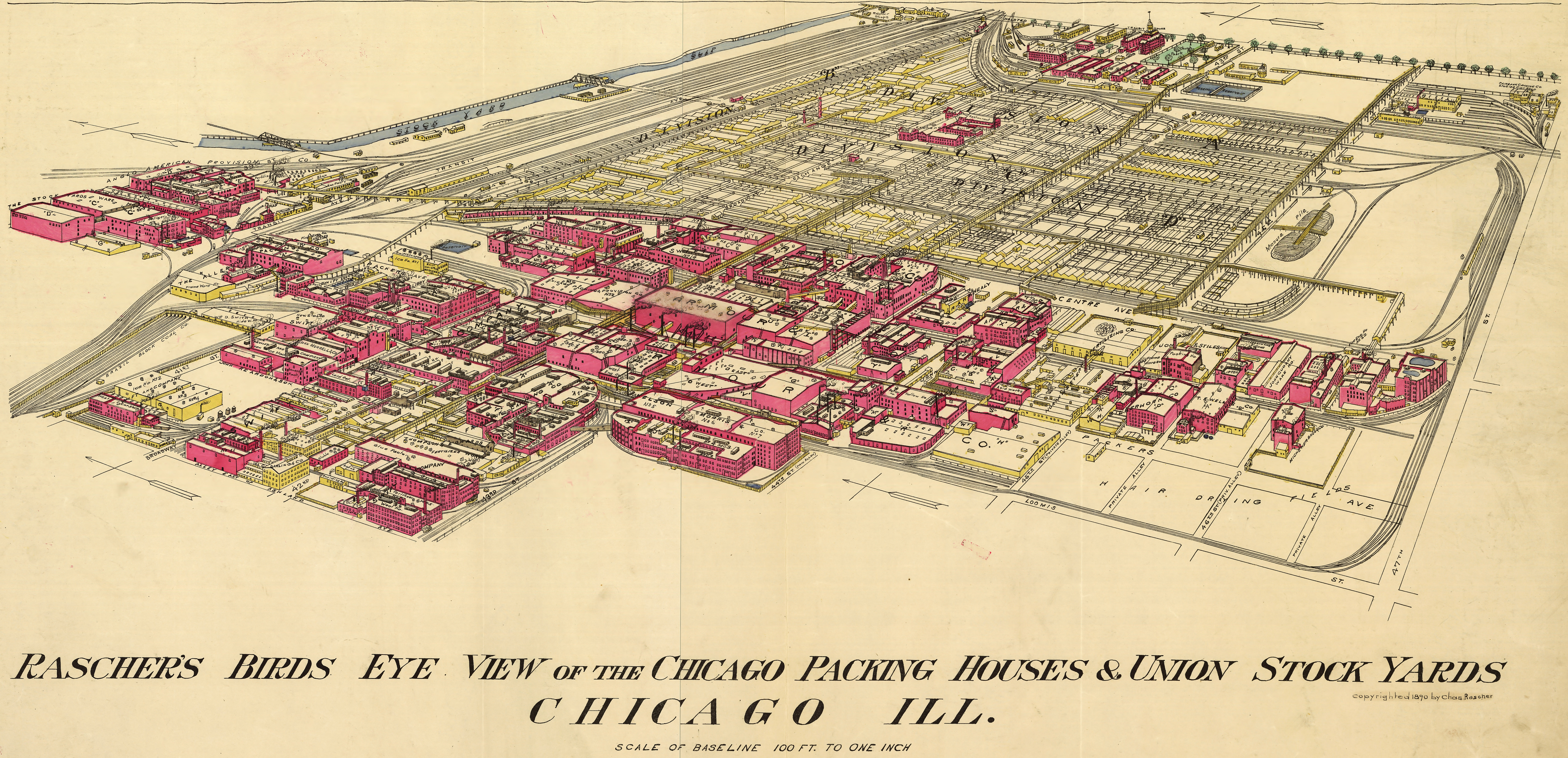 Chicago Meatpacking District And Stockyards - Chicago union map