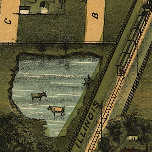 Birdseye view of Mattoon, Illinois image detail