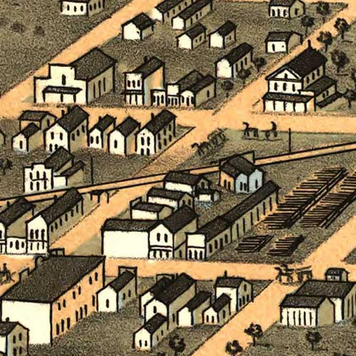 Birdseye view of Young America, Ill. image detail