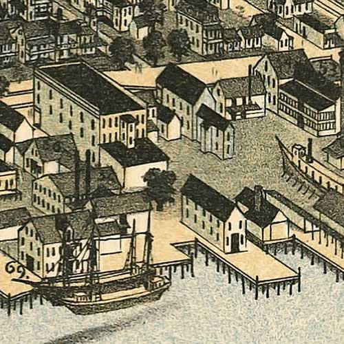 Birdseye view of Jacksonville, Florida image detail