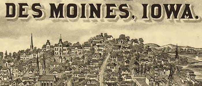 Des Moines, Iowa, from the Illustrated Atlas of Iowa image